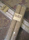 8 Inch Natural Beeswax Glitter Candles, Fools Gold Color, Boxed Set of 2
