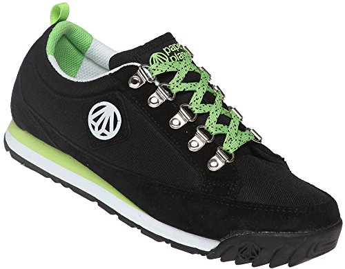 Paperplanes-1140 Unisex Casual Stylish Tracking Style Sports Sneakers Black Green E1l5UiW