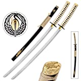 Best Sword Set With Stands - Goldenfire Twin Display Katana Set - Includes Two Review