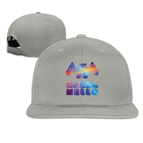 (Oops Times Cap Solid Adult Colorful Marshmello Music Logo Flat Bill Baseball Cap Ash)
