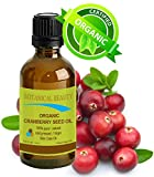 "CRANBERRY SEED OIL ORGANIC 100% Pure / Natural / Undiluted/ Virgin. Cold Pressed / Undiluted Carrier Oil. For Face, Hair and Body. 0.33 fl.oz -10 ml. ""One of the richest natural sources of vitamin A and a remarkable and stable source of omega 3 and 6, vitamins E and minerals. Nature's Perfect moisturizer."" by Botanical Beauty"