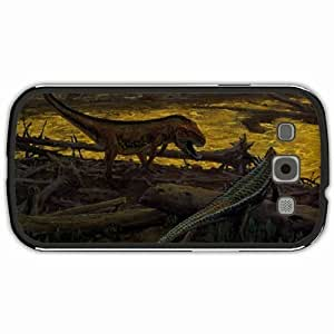 New Style Customized Back Cover Case For Samsung Galaxy S3 Hardshell Case, Black Back Cover Design Dinosaur Personalized Unique Case For Samsung S3