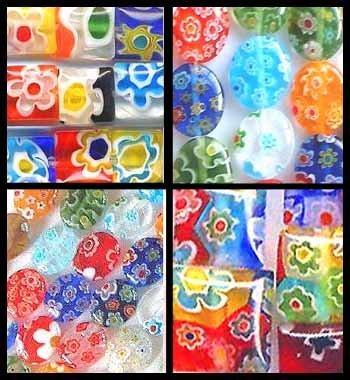 Millefiori Glass Beads Huge Lot 350+ Rainbow Smorgy Mix