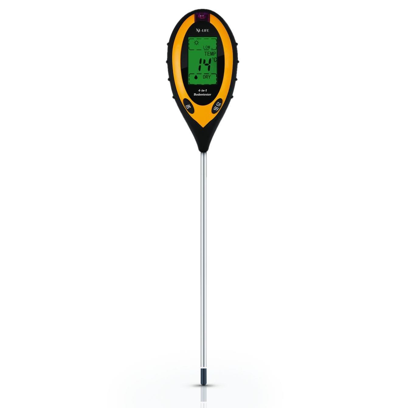 X4-LIFE 700403 Testeur de sol à affichage numérique 4 en 1