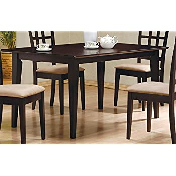 AmazoncomCoaster Hyde Rectangular Casual Dining Leg Table in