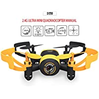 Kingtoys JXD 512V Mini RC Helicopter Drone UFO 2.4G 6-Axis Gyro Headless Mode RC Drone with 0.3MP Camera Yellow