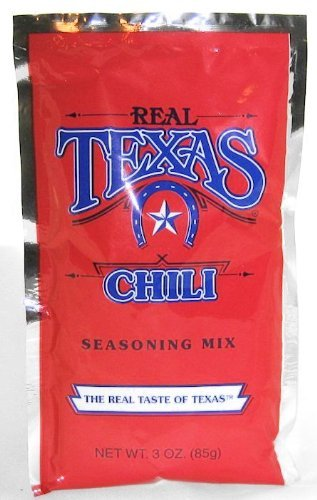 Real Texas Chili Seasoning Spice Mix - 3 Ounce (4 Pack)