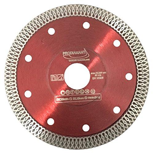 Prodiamant Premium Diamant Trennscheibe Fliese / Feinsteinzeug PDX93.936 - 125 x 22,23mm