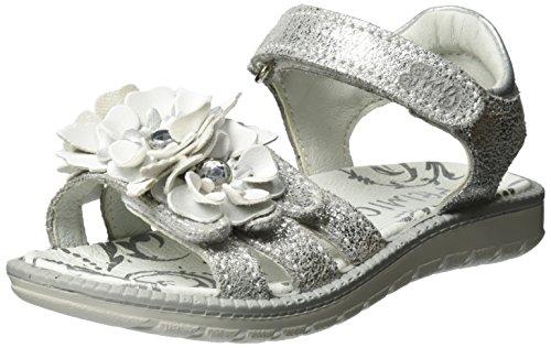 Primigi Mädchen Pal 7602 Offene Sandalen mit Keilabsatz Silber (ARGENTO/ARGENTO)