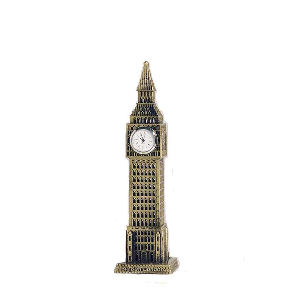 Fanhui Continental Retro British Big Ben Creative Home Furnishing Metal Ornament London Big Ben Clock Handicrafts
