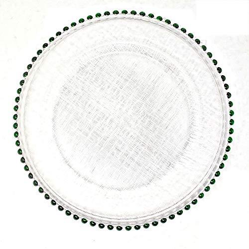 1 beautiful round glass dinnerware 13