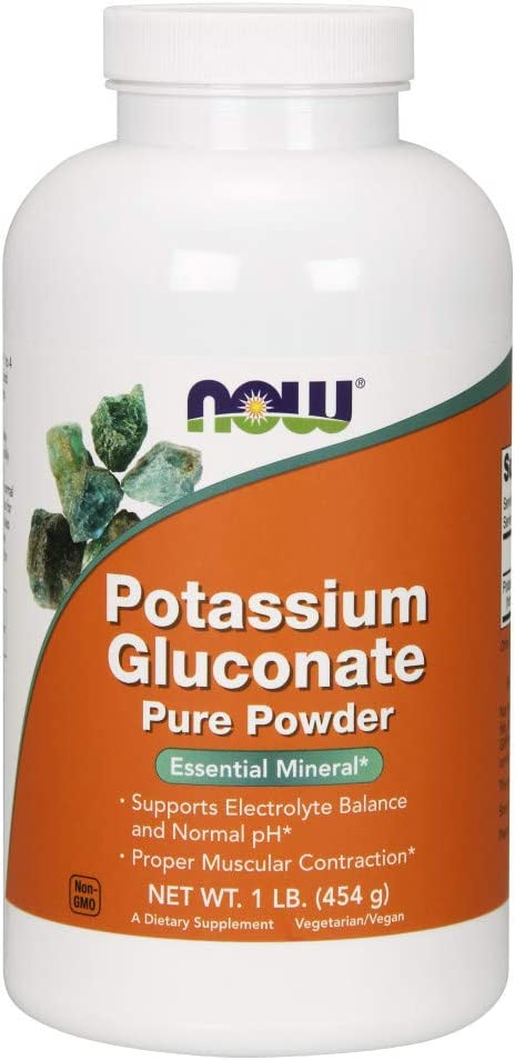 NOW Supplements, Potassium Gluconate Pure Powder 175 mg, Essential Mineral*, 1-Pound