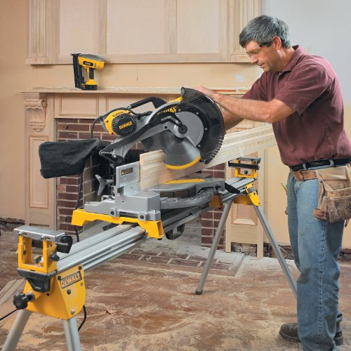 028877505749 - DEWALT DW716 15 Amp 12-Inch Double-Bevel Compound Miter Saw carousel main 2