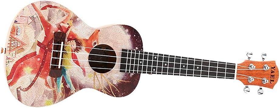 NUYI Ukulele Instrumento De Guitarra Pequeña De 23 Pulgadas ...