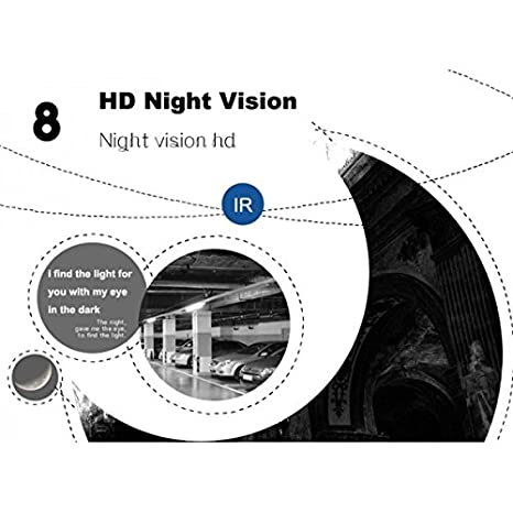 Mini cámara Full HD orientable WiFi IP Camera HD 720P Wireless LED IR LAN 360 ° Fisheye Transmisión directa Internet cw157: Amazon.es: Bricolaje y ...
