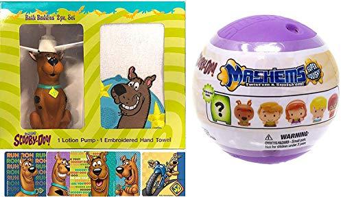 - Soft Character Scooby Mini Figure Pop Mash'em Scooby Bath Hand Towel Figure Hand Pump & Sticker Pack