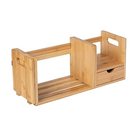 Lcxliga Estantería de bambú Caja de Almacenamiento Ampliable ...