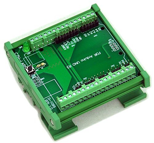 Electronics-Salon DIN Rail Mount Screw Terminal Block Adapter Module, For Arduino UNO R3.