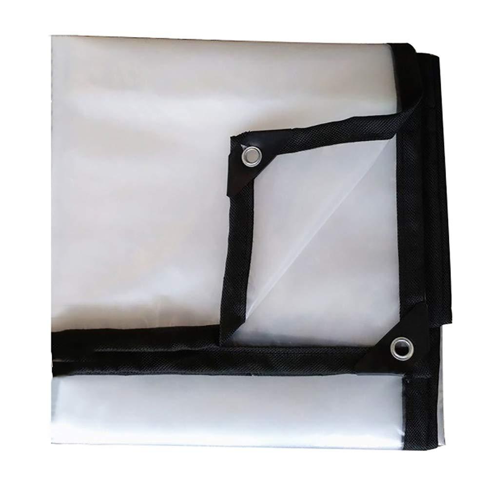GUOWEI-pengbu ターポリン トランスペアレント 防水 不凍液 防塵の 老化防止 アウトドア、 15サイズ (色 : クリア, サイズ さいず : 3x6m) 3x6m クリア B07KN6R7K1