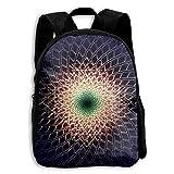 Kids Backpack Fractals Sequences Sacred Geometry Girls School Bag Multipurpose Daypacks Backpacks