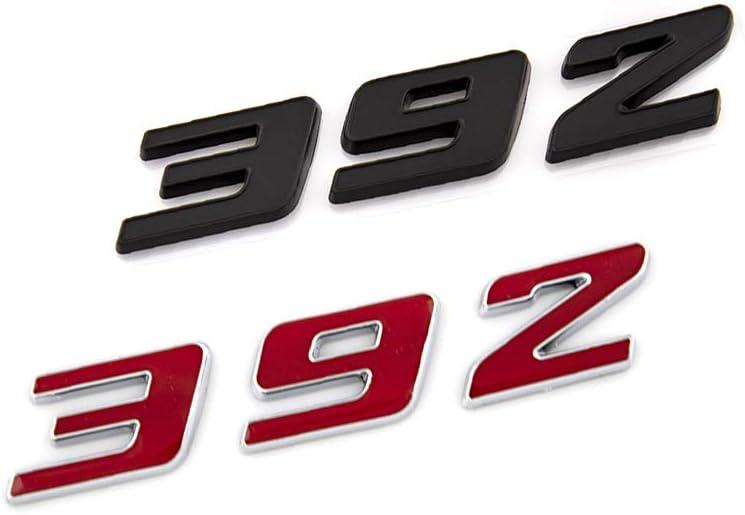 2X 392 Emblem 3D Logo Badge Premium Car Decal Fit For Hemi Challenger Chrysle 300c Black