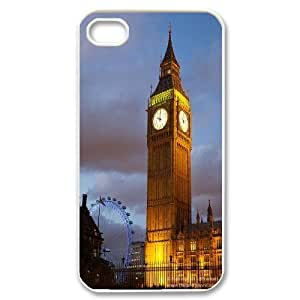 UNI-BEE PHONE CASE For Iphone 4 4S case cover -London Big Ben-CASE-STYLE 12
