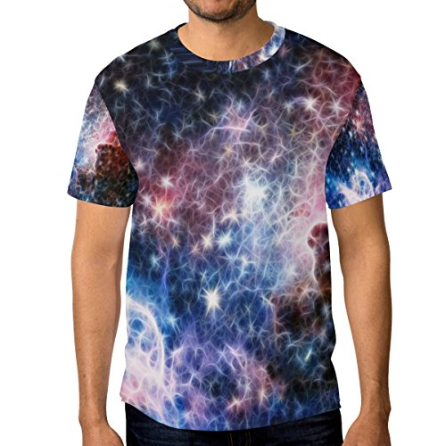 Dragon Sword Infrared Light Carina Nebula Men's Short-Sleeve Crewneck T-Shirts