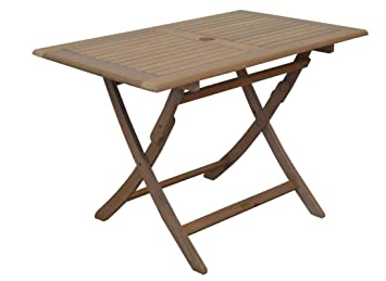 Proloisirs Table rectangulaire Pliante Look Teck