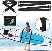 Odoland Paddle Board SUP Carry Strap with Deck Bag, Stand Up Paddle Board Carrier and Storage Sling for Surfbo