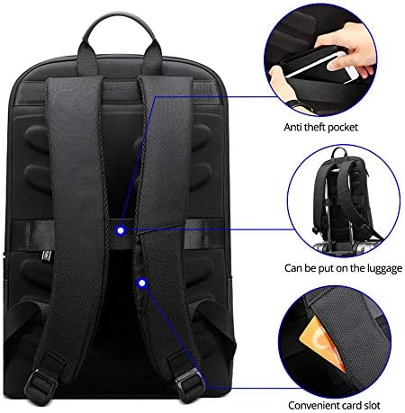 スリム男性バックパック薄い超軽量ラップトップバックパック用15.6インチファッション事務作業防水ビジネスバックパック用男性