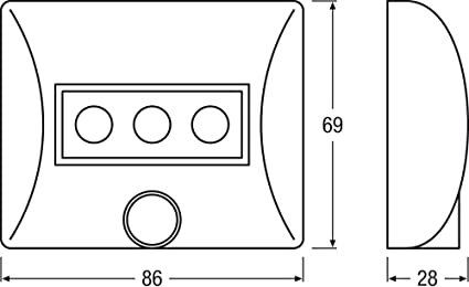 Osram 80194 Nightlux - Lámpara LED portátil con sensor de ...