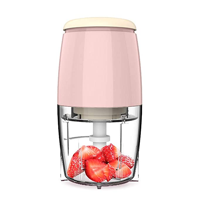 Citrus Juicer Electric Powerful Orange Juicer, Baby Food Supplement, 500ml Single Cup,Quickly Clean And Silent Motor, BPA Free,40W (Color : Pink)