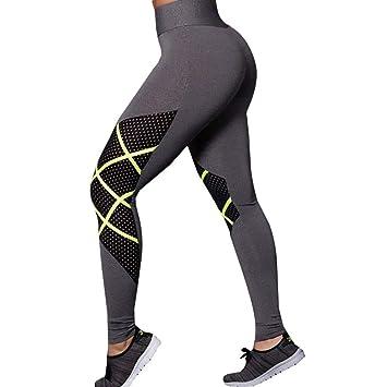 WHFDDDK Pantalones de Yoga para Mujeres Fitness Leggings ...