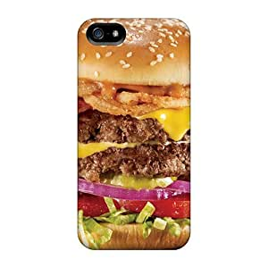 Perfect Hard Phone Cover For Apple Iphone 5/5s (yCb20746leTD) Provide Private Custom Fashion Meat And Barbecue Very Thick Hamburger Image