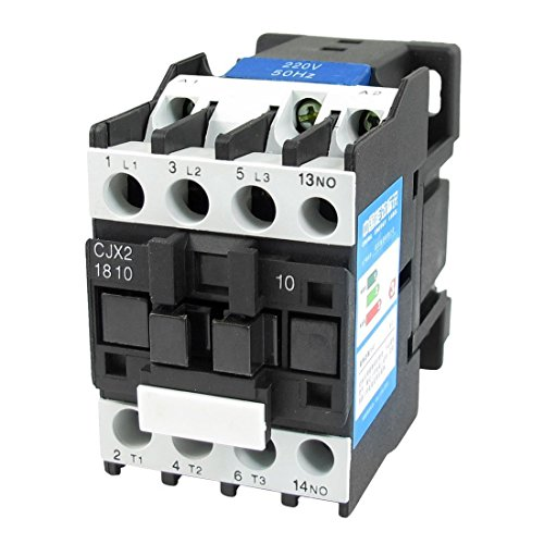220 3 Phase (Baomain AC Contactor CJX2-1810 220V 50Hz 660V 32 Amp 3 Phase 3-Pole NO DIN rail)