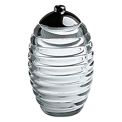 Alessi TW02 - Azucarero de cristal con tapa de acero inoxidable