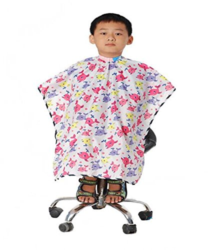 JINDIN Kids Hairdressing Capes Hair Cutting Gown Salon Home Smock Children Cut Hair Cloth by JINDIN