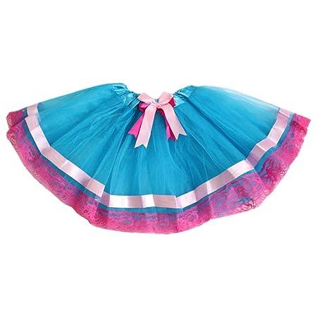 Vivianu Falda tutú de 3 colores con lazo de satén de doble capa ...