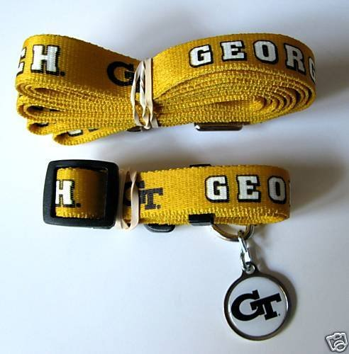 Hunter Georgia Tech University Pet Combo Set (Collar, Lead, ID Tag), X-Small