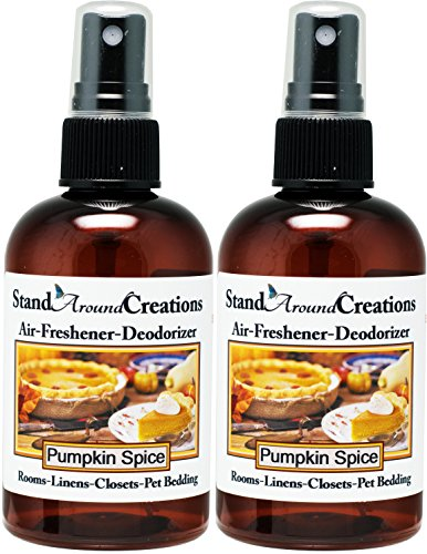 Set of 2 - Concentrated Spray For Room / Linen / Room Deodorizer / Air Freshener - 4 fl oz - Scent: Pumpkin Spice by Stand Around Creations