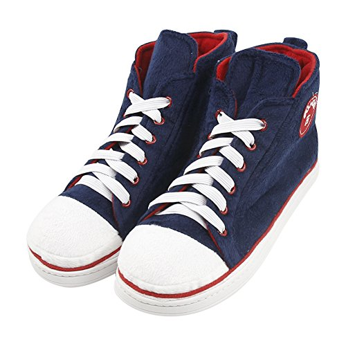 Gohom Mens Inverno Caldo Indoor / Outdoor Natale High-top Sneaker Pantofole Navy