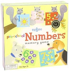 eeBoo Number Memory Game