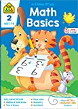 School Zone - Math Basics 2 Workbook - 64 Pages, Ages 7 to 8, Addition & Subtraction, Time & Money, Place Value, Sums and Differences, Fact Families, and More (School Zone I Know It! Workbook Series)