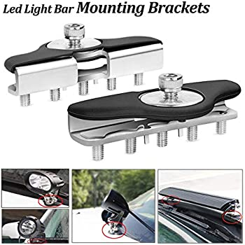 2-Pack Ledmircy Led Light Bar Mounting Brackets