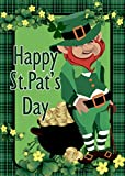 st patricks outdoor flags - Morigins Happy St. Patrick's Day Green Double Sided House Flag 28x40 inches