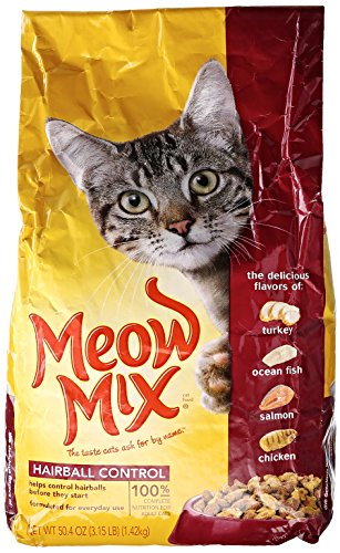 Meow Mix Cat Food, Hairball Control, 3.15 lb