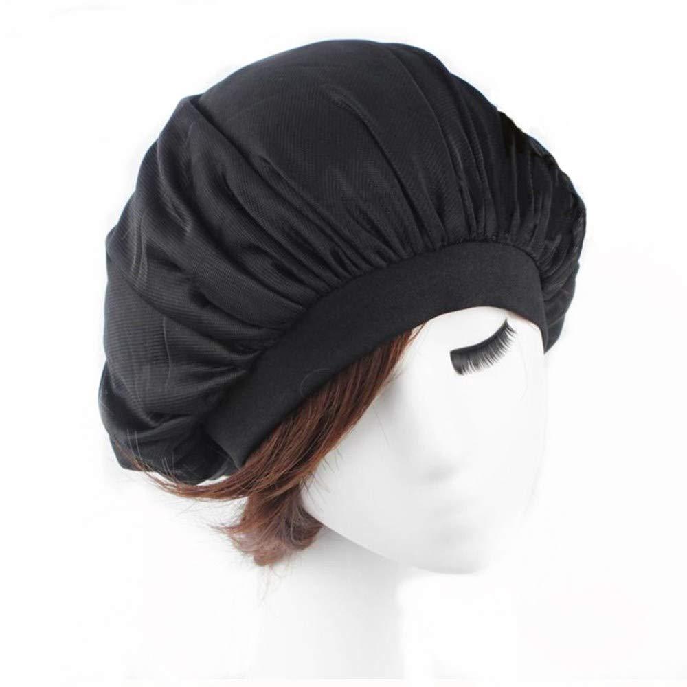 Fashion Night Sleep Cap Head Covers, Breathable Soft Mesh Bonnet for Women, Lightweight Night Cap Ideal for Small Medium Head Restless Sleeper - 2Pcs