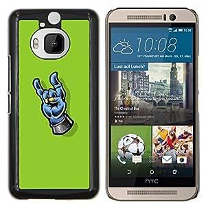 Caucho caso de Shell duro de la cubierta de accesorios de protección BY RAYDREAMMM - HTC One M9Plus M9+ M9 Plus - Heavy Metal Mano