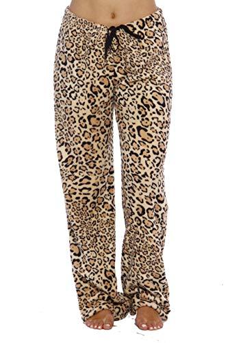 Just Love Women's Plush Pajama Pants, X-Large, Leopard