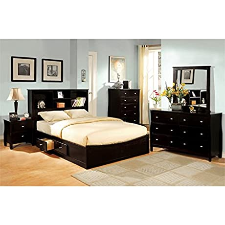 Furniture Of America Frannicken 4 Piece Full Bedroom Set In Espresso